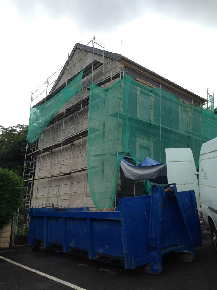 AMI Lorraine - Ravelement de façade Ottange (57 Moselle) - Ravalement grésé avec sous-couche et trame fibre de verre