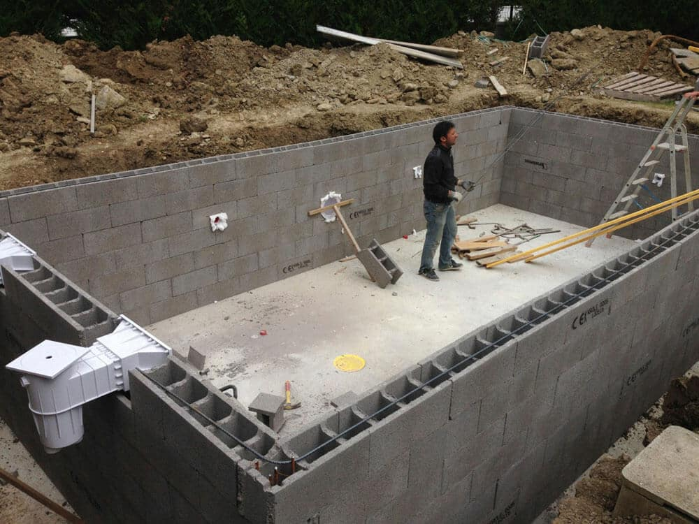 Construction piscines b ton arm moselle - Comment construire une piscine ...