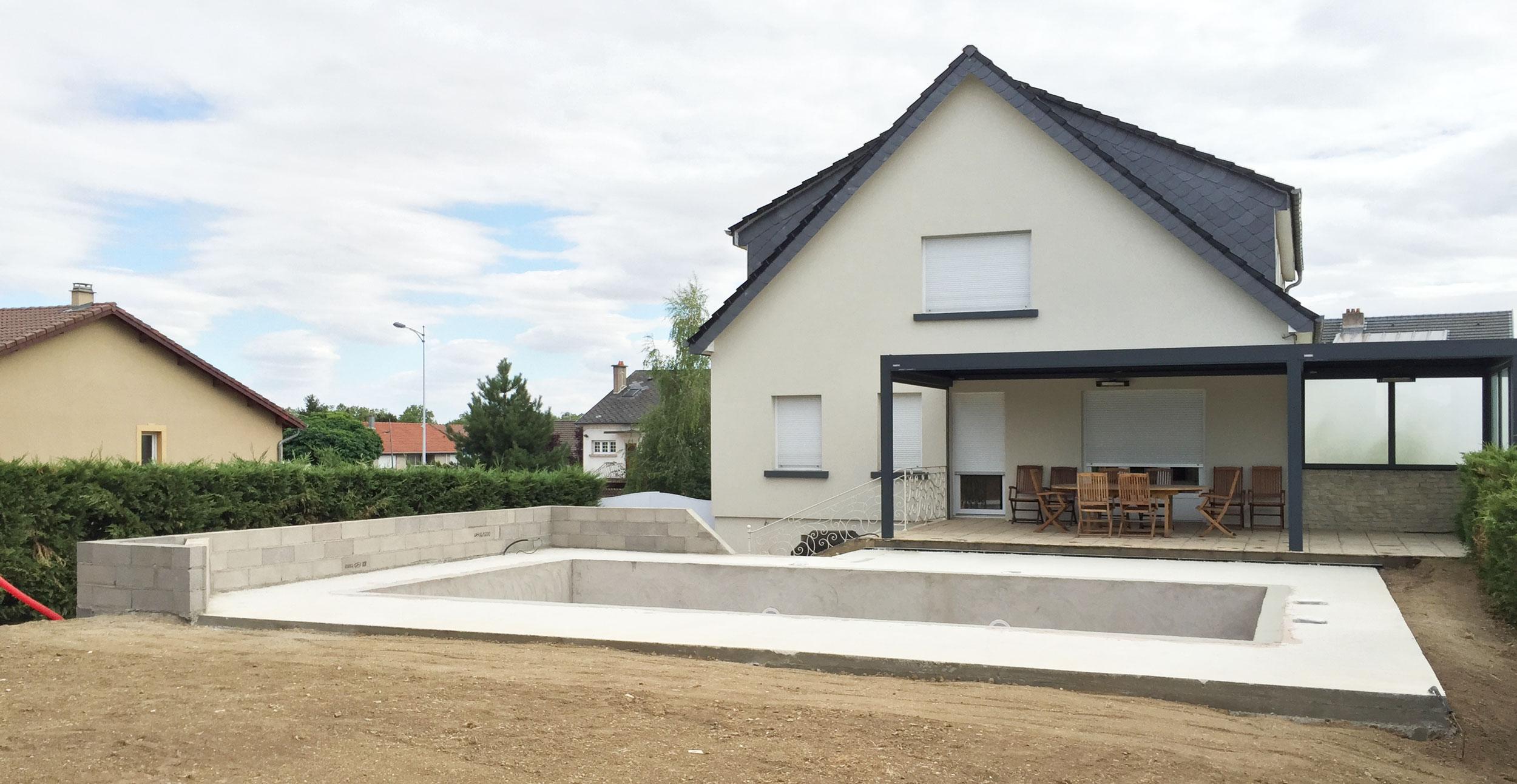 AMI Lorraine - Construction de piscines traditionnelles en béton en Lorraine