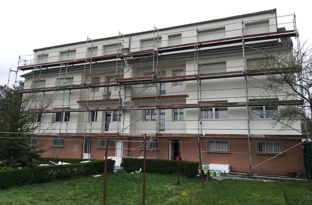 AMI Lorraine - Isolation thermique extérieure d'un immeuble à Moulins-lès-Metz