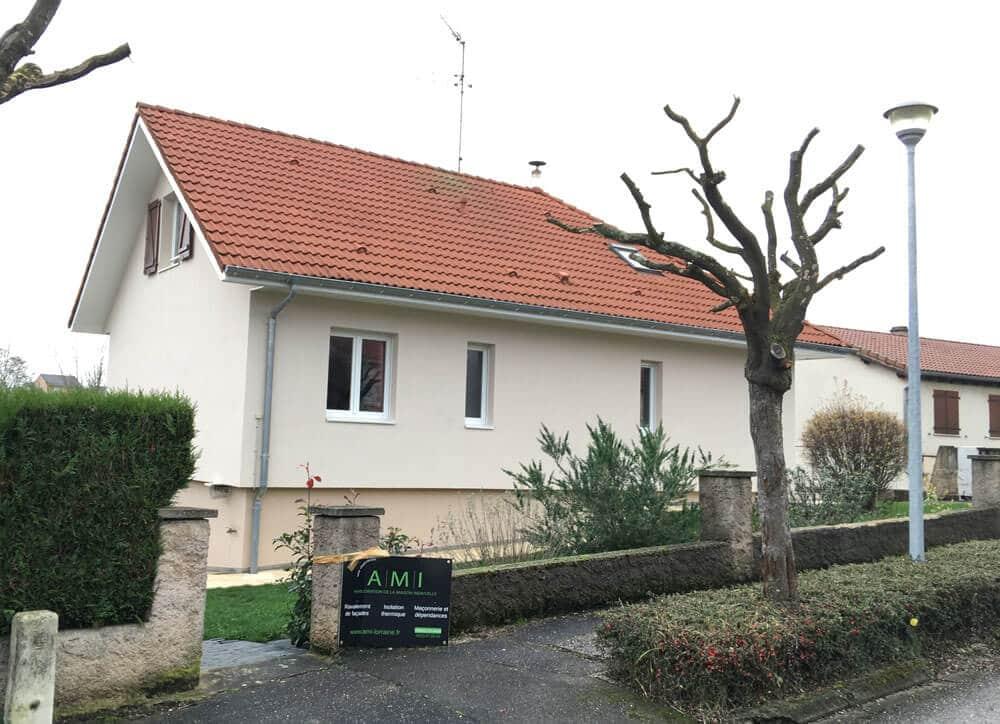 AMI Lorraine - Isolation d'une maison par l'extérieur en Meurthe-et-Moselle