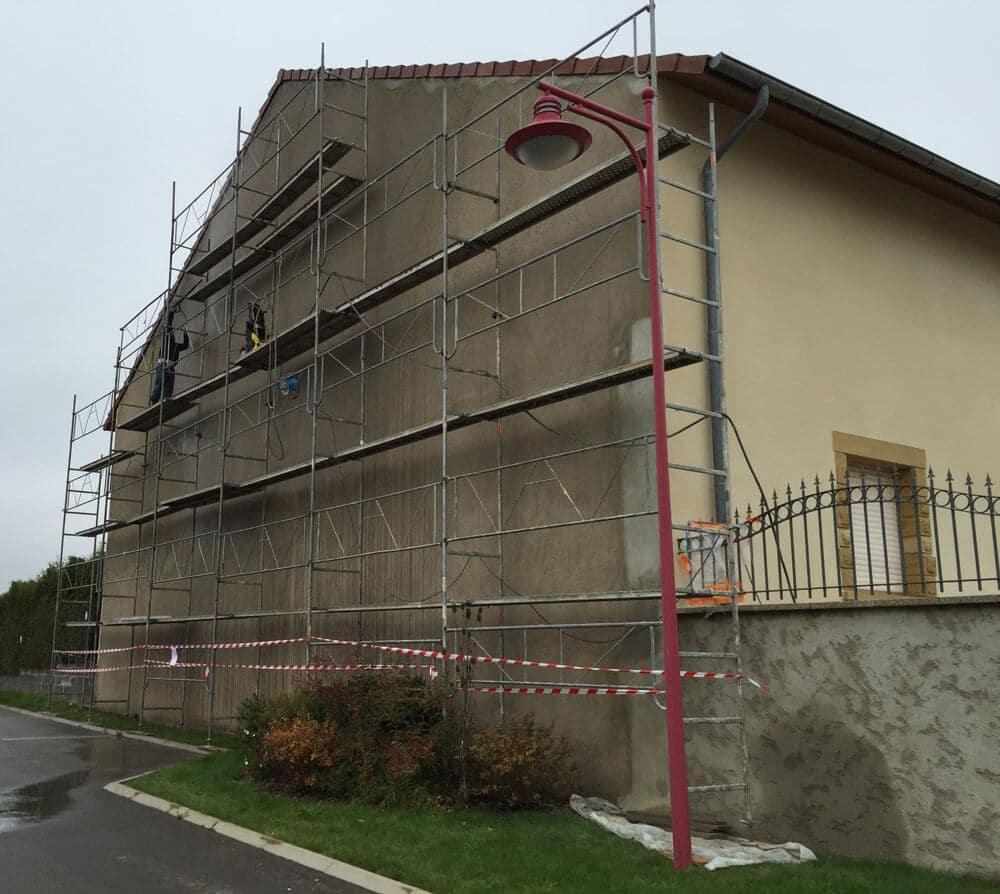 AMI Lorraine - Ravalement d'une grange en Moselle